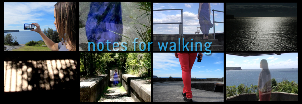 Notes for Walking, locative artwork by Megan Heyward, 2013.